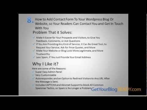 How to Embed a Fast Secure Contact Form to Your Wordpress Blog or Website?