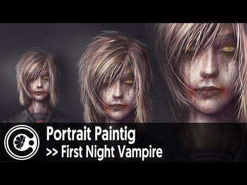 Portrait Painting: First Night Vampire