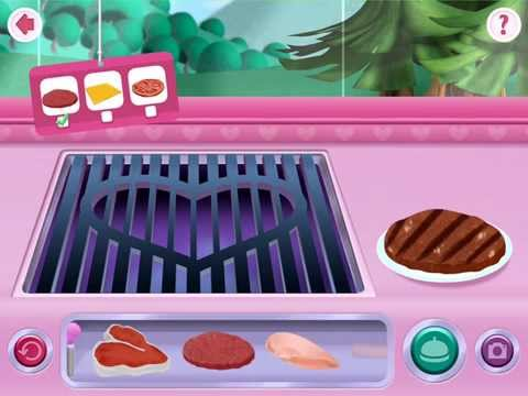 Minnie's Mouse Grill Station in Food Truck - Disney App   Meat, Cheese & Tomato