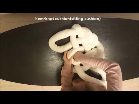 hem knot-cushion(sitting cushion)