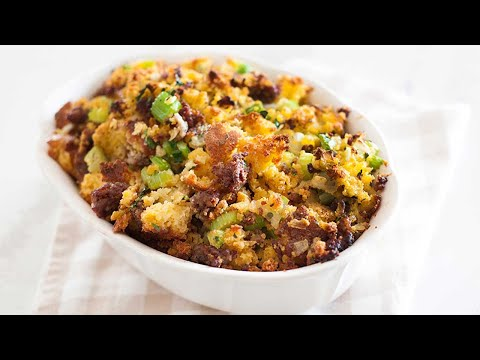 Thanksgiving Cornbread and Sausage Stuffing or Dressing