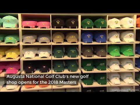 Tour Augusta National's new golf shop
