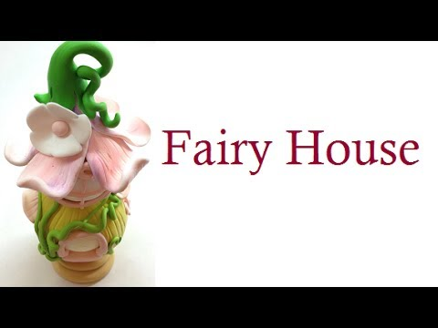 Fairy house/casa de fada- Polymer clay (fimo) tutorial