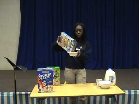 DEMONSTRATION SPEECHES! *Sameka teaches us how to make Cereal*