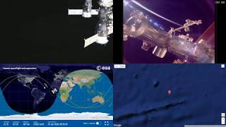 Orbital Sunrise Over South Atlantic And Africa ISS Space Station Earth View LIVE NASA/ESA Cameras 37