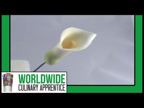 Sugar Gum Paste Flowers-How to make Sugar Paste Calla Lilies-Cake Decoration-Pastry School