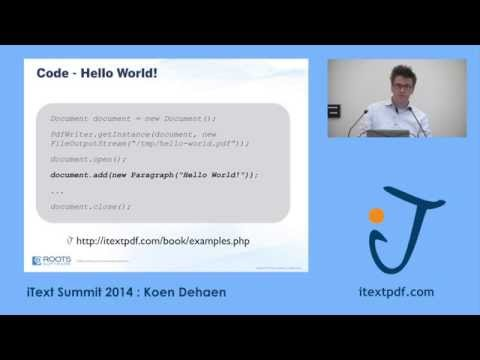 iText Summit 2014: Creating Dynamic PDF Templates from Data using iText