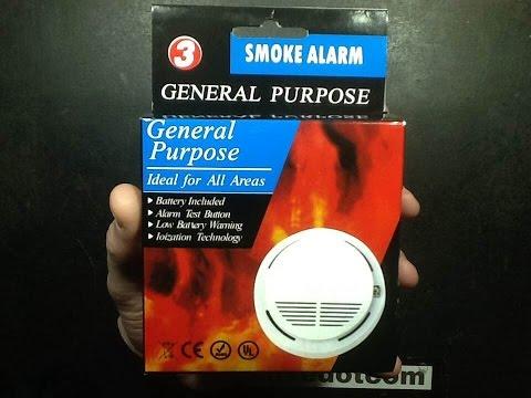 A look inside a cheap ebay smoke detector.