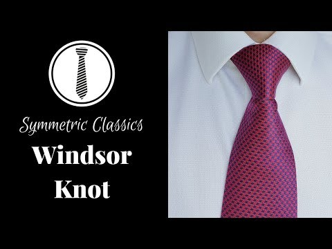 How to tie a tie - Windsor Knot - Step by Step Easy Instruction