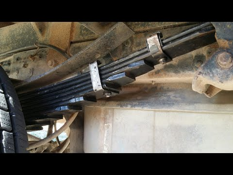 New F-350 Rear Leaf Springs to correct ride Heigth