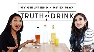 My Girlfriend & My Ex Play Truth or Drink (Saveara & Emily) | Truth or Drink | Cut