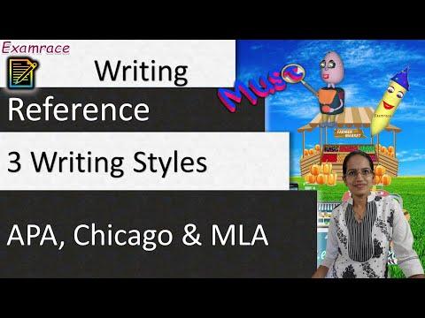 3 Writing Styles - APA, Chicago & MLA
