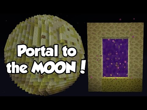 How to Make a PORTALto the MOON (No Mods) | Minecraft