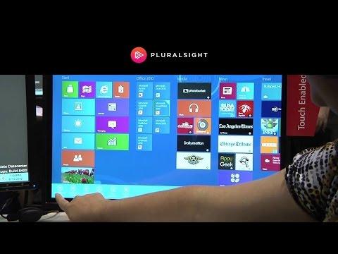 Windows 8 Start Menu Tiles at TechEd 2012