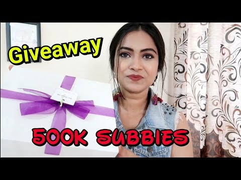 GIVEAWAY-500k SUBSCRIBERS// Hairstyle Diaries//Sugarbox