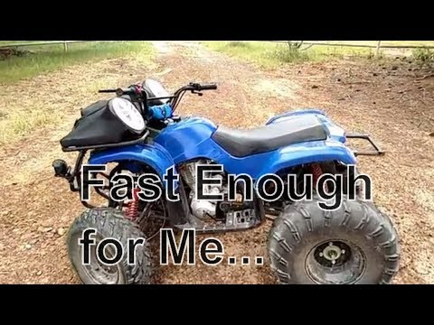 TaoTao ATV Speed Test, ATV goes faster than I can control with one hand. spped test just in case