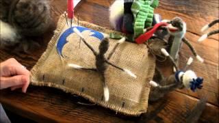 Needle Felted Sock Monkey A Sarafina Fiber Art Ornament Tutorial