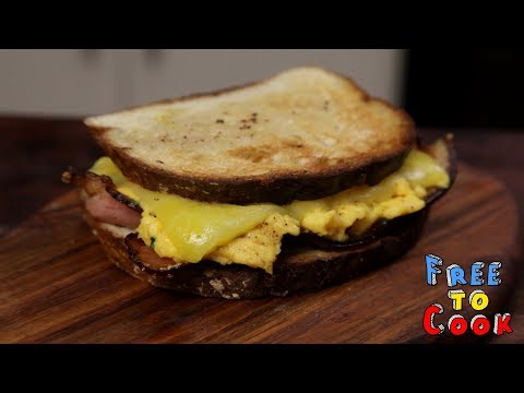 How to cook a Scrambled Egg and Bacon Sandwich