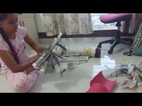 How to make Pom Pom with news paper