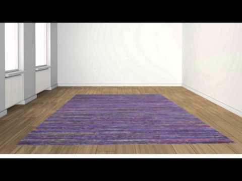 Purple Sari Silk Area Rug - POSH RUG