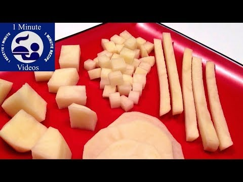 How to Quickly Cut Potatoes / Cutting Tips & Tricks, DIY, Tutorial