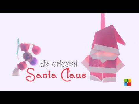 DIY : Origami Santa Claus