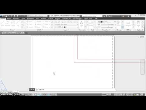 Setting Up Paperspace Layout in AutoCAD
