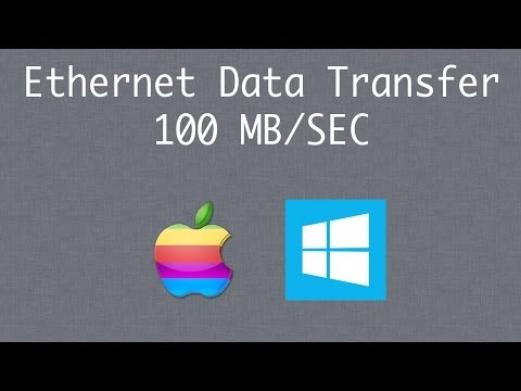 Transfer Files Between Mac & Windows Using Ethernet Cable At 100 MB Per Second