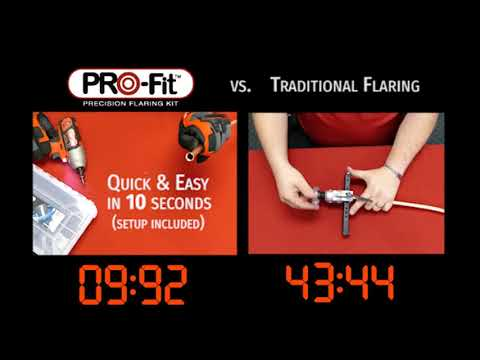 RectorSeal PRO-Fit Precision Flaring Kit VS. Traditional Flaring for HVAC Copper & Aluminium Tubing