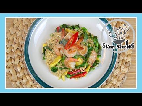 Stir Fried Instant Drunken Noodles (Mama Pad Kee Mao)