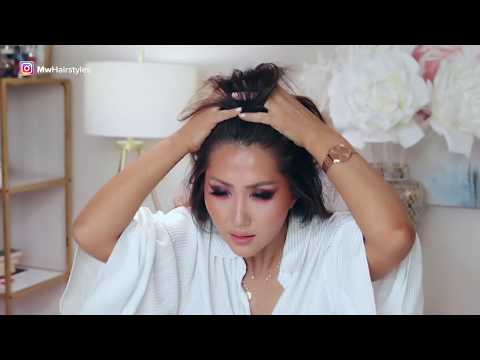 ★ 5 LAZY Bun METHODS for DARK HAIR ★ EASY UPDO HAIRSTYLES Transformations with Puff