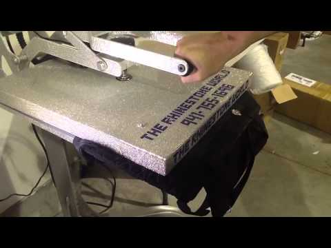 How To Heat Press A Rhinestone Tote Bag Multi-dec