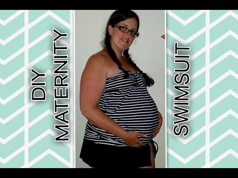 DIY How to make a Maternity Swim Suit Top