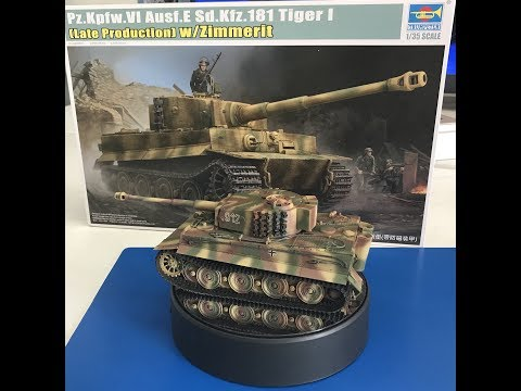 Building The Trumpeter Tiger 1 with new Zimmerit