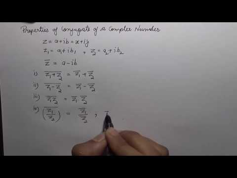 Properties of Conjugate of Complex Numbers (hindi) | NCERT 11 Class Maths