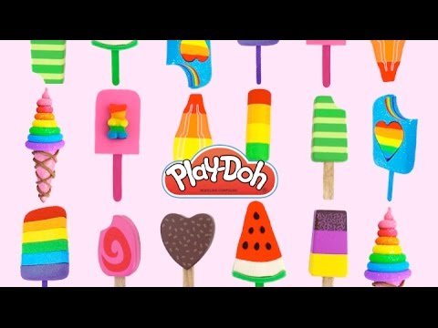 Play Doh Ice Cream and Popsicle Toys for Kids * RainbowLearning