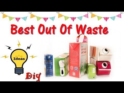 DIY  BEST OUT OF WASTE IDEAS   MILK CARTON/JUICE CARTON CRAFT IDEAS   GIFT BOXES   HOME DECOR IDEAS