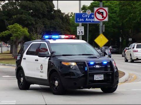 LAPD Ford Explorer Arriving On Scene