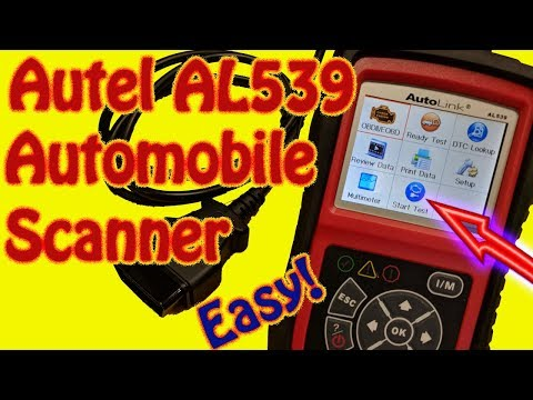 Autel Autolink AL539 Automotive Diagnostic Scanner Review - Autel Second Generation OBD II Scanner