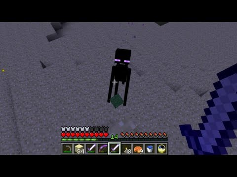 Minecraft: Getting Ender Pearls quickly by hunting Endermen in the Overworld