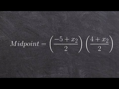 How to determine the endpoint, given one endpoint and midpoint