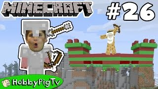 Minecraft Castle Challenge! Arrow Battle Against HobbyFrog Now on HobbyPigTV