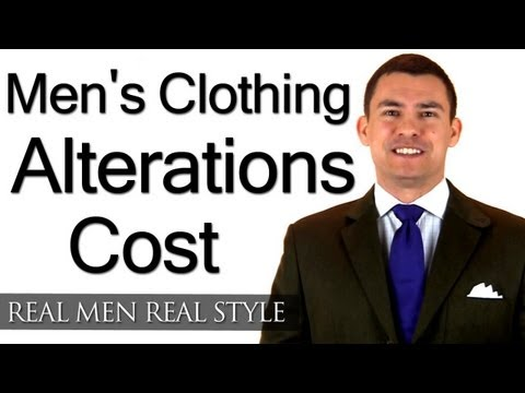 Men's Clothing Alterations Cost - What Should A Man Expect To Pay A Tailor - Seamstress Price Guide