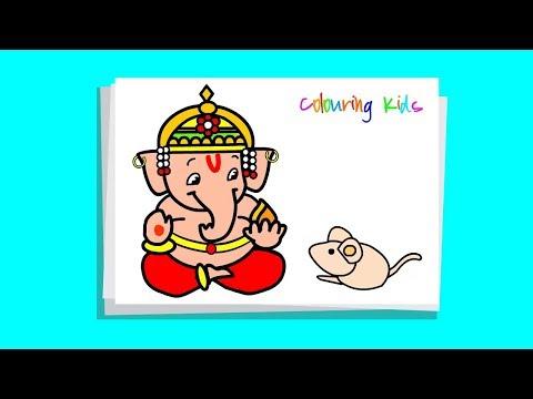 drawing ganesha step by step very easy
