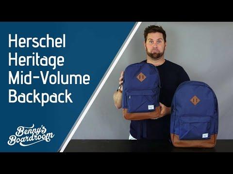 b7a4baa80db Herschel Heritage vs Heritage Mid Volume Backpack - Benny s Boardroom