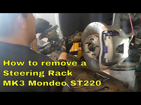 How to remove a Steering rack from a MK3 Mondeo ST220