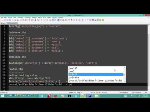 codeIgniter tutorial - All you need to get started (configuration + database + route and more)