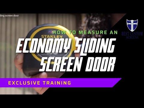 How to measure a patio sliding screen door