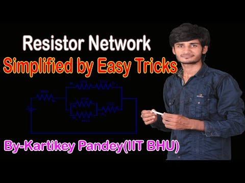 How to find out Equivalent Resistance of complicated Circuits By easy TRICKS ?BY-Kartikey Pandey