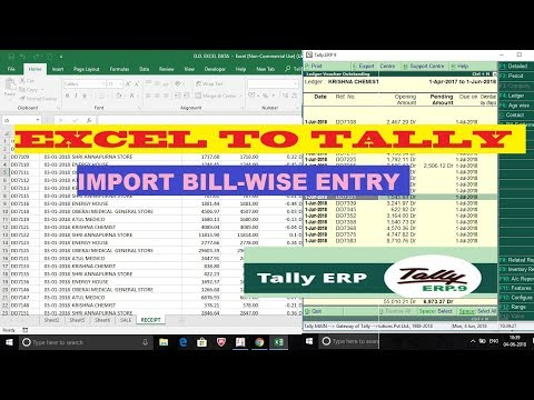 EXCEL TO TALLY - Bill-wise Import | Sales and Receipt ☑️